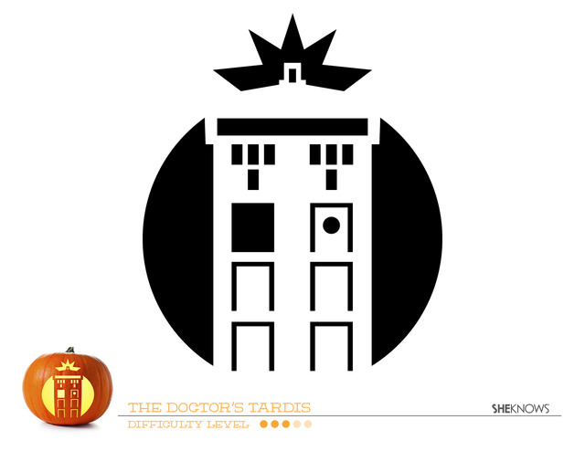 Doctor Who Tardis Pumpkin Carving Template  Free Printable Coloring