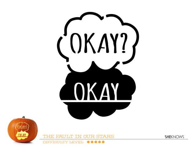 The Fault In Our Stars pumpkin carving template - Free Printable Coloring Pages