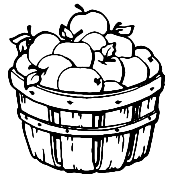 Barrel of apples coloring page Free Printable Coloring Pages
