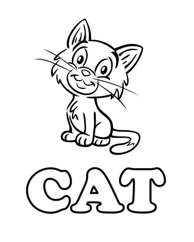 Cat Free Printable Coloring Pages