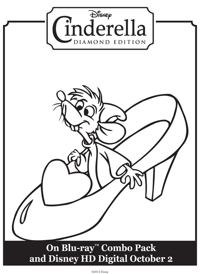 Cinderella 39 s Mice Shoe Free Printable Coloring Pages
