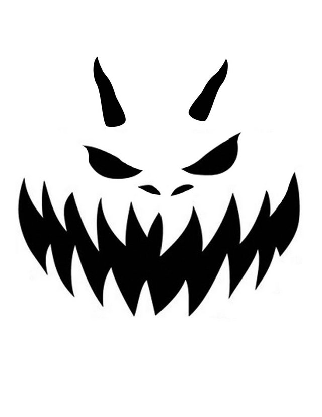 Devil pumpkin free printable coloring pages for Evil face pumpkin template