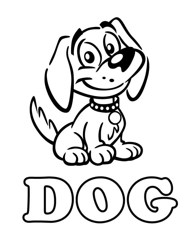 Colouring Pictures Cats Dogs : Dog Free Printable Coloring Pages