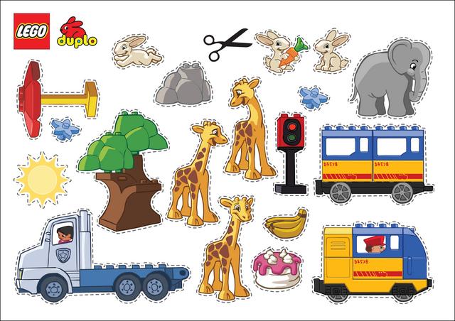 Lego cutouts Free Printable