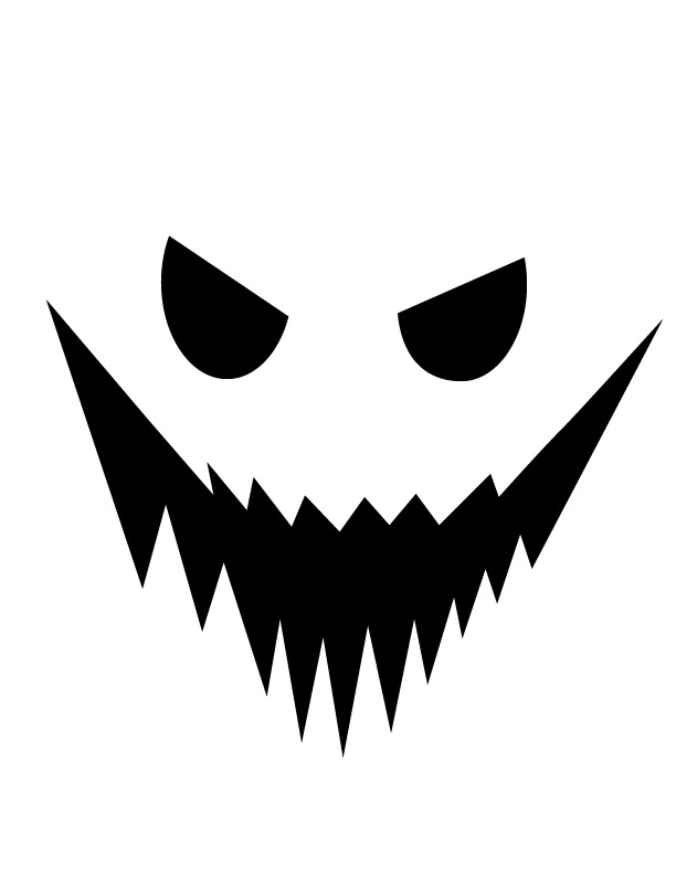 Pumpkin carving templates: Jack o'lantern 36