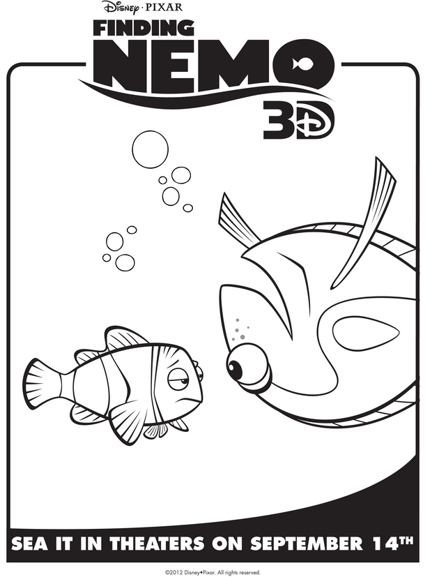 finding nemos marlin dory - Pixar Coloring Pages Finding Nemo