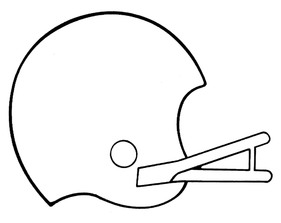Football Coloring Pages Printable Football Helmet  Free Printable Coloring Pages
