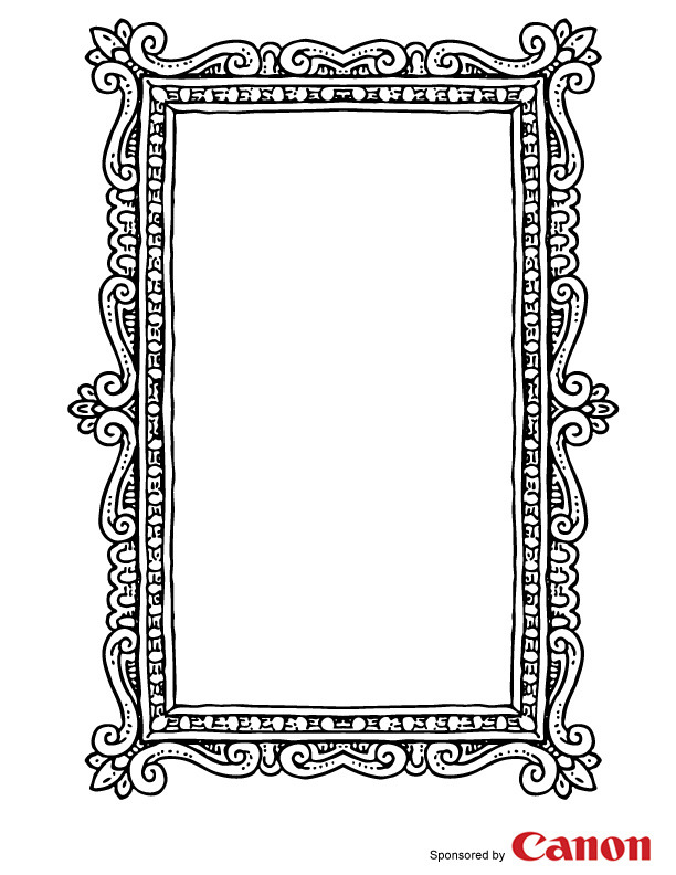 Comprehensive image within printable photo frames