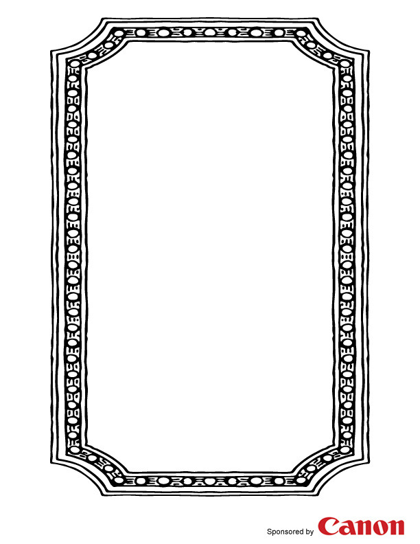 free border templates - frame 4 free printable coloring pages