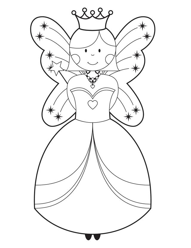 Fairy Godmother - Free Printable Coloring Pages