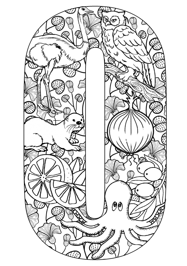Things that start with O - Free Printable Coloring Pages