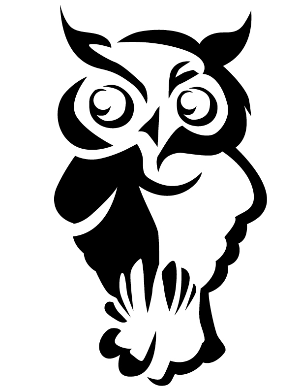 Owl free printable coloring pages pumpkin carving templates owl maxwellsz