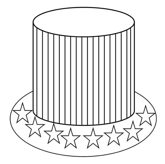 American hat coloring page - Free Printable Coloring Pages