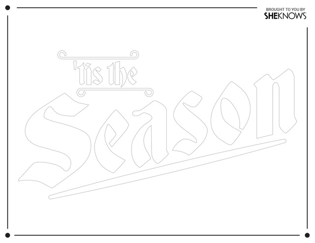 Tis the season wall stencil white Free Printable