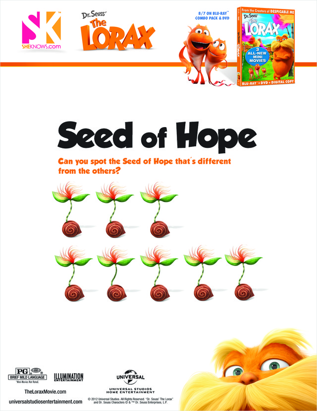 The Lorax seed of hope Free Printable