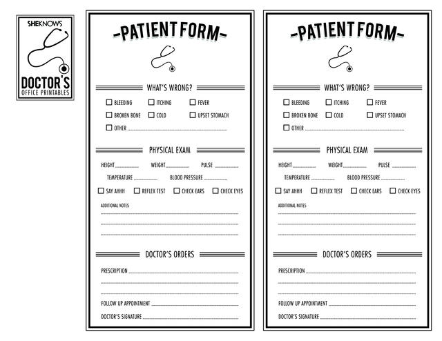 High Quality SheKnows Regarding Free Printable Doctor Forms