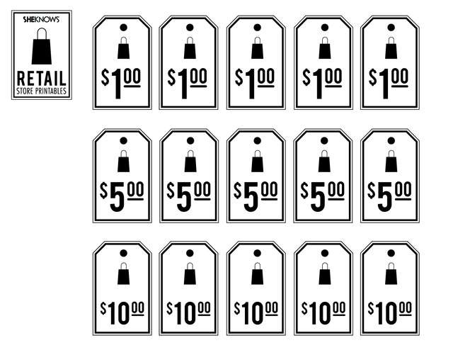 Retail Price Tags Free Printable Coloring Pages