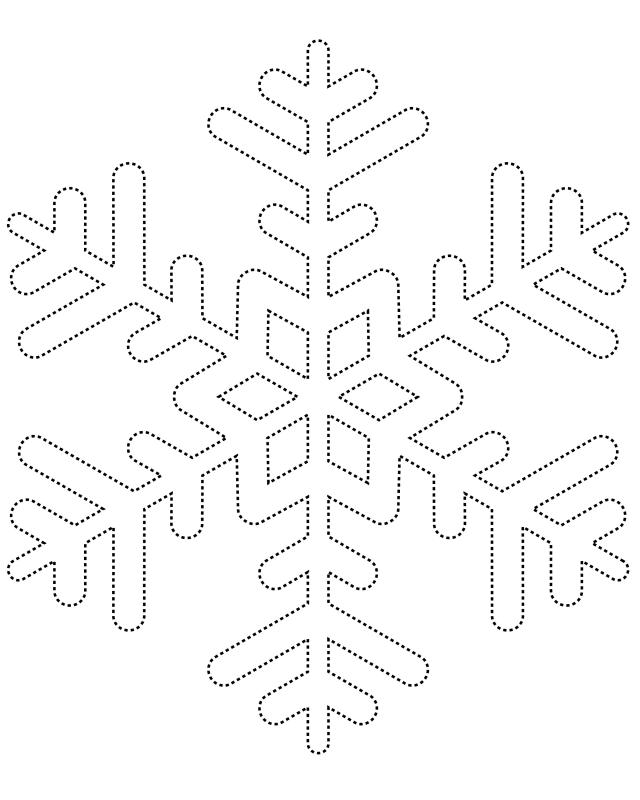 Snowflake Template   Free Printable Coloring Pages