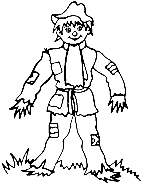 coloring pages of scarecrows - photo#24