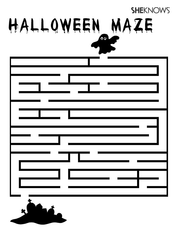 Halloween Coloring Pages Mazes_20171026221718 ~ Get interesting ...