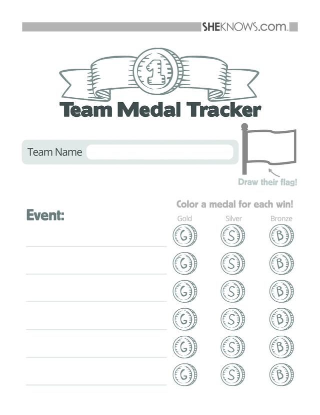 Free Olympics Printables For Kids