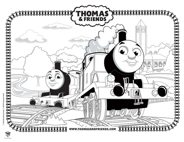 Coloring Pages Of Thomas The Train Trainy Thomastrainy On Pinterest