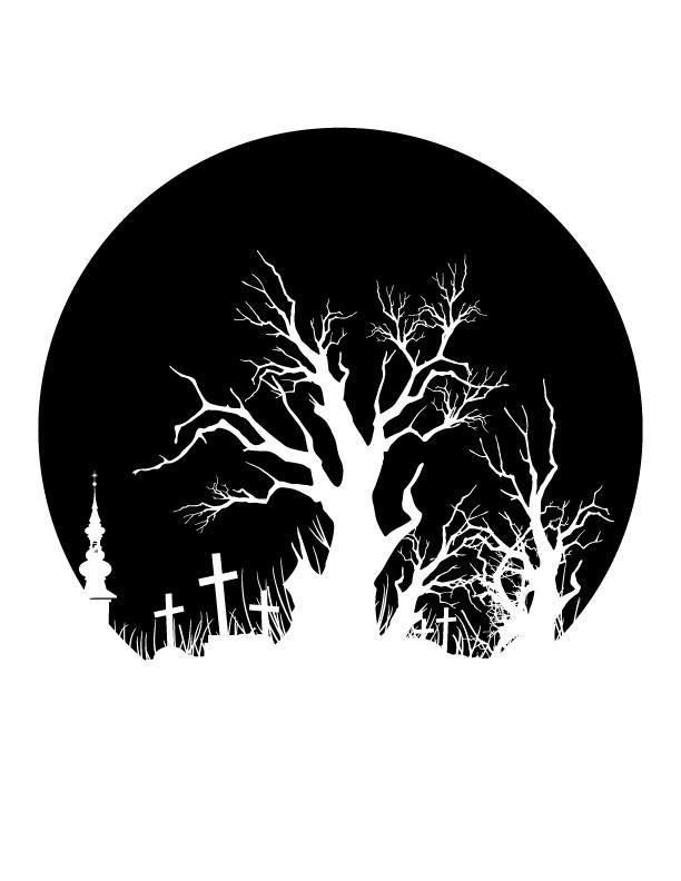 Spooky tree free printable coloring pages for Spooky letter stencils
