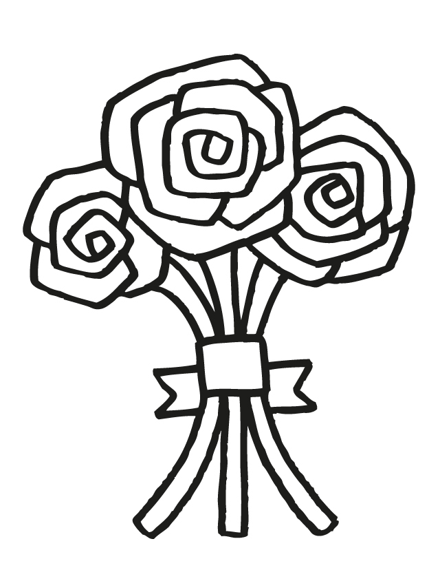 Wedding Bouquet 5 Free Printable Coloring Pages