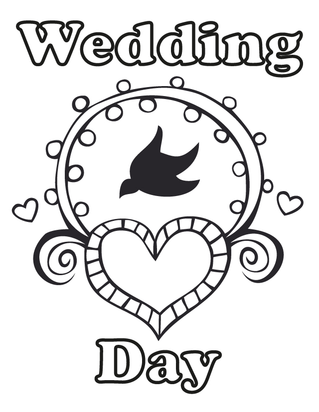 free printable coloring pages for weddings - Free Printable Coloring Book Pages