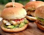 Avocado and crab cake sliders