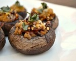 Bacon and blue cheese stuffed mushroom caps