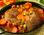 A '70s-style pot roast with potatoes and carrots
