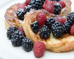Oven Baked French Toast with Fruit Sauce