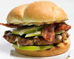 Apple, Bacon and Sausage Burger