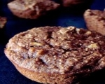 Healthy apple bran muffin