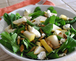 Arugula Salad with Pear and Blue Cheese