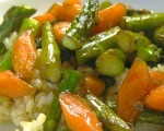 Lemon Asparagus and Baby Carrots