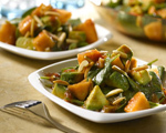 Avocado and Melon Salad Drizzled with Picante Sauce