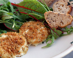 Baked Goat Cheese with Mesclun