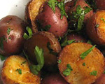 Baked New Red Potatoes with Basil
