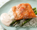 Baked Spiced Salmon with Basmati Rice and Asparagus