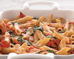 Baked spinach and tomato pasta