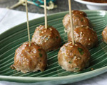Baked Turkey and Teriyaki Meatballs
