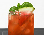 Basil and Watermelon Cooler Cocktail