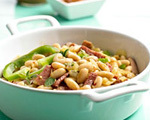 BBQ White Beans with Peppers