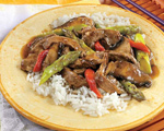 Beef, Asparagus and Portobello Stir-Fry