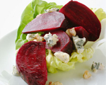 Roasted Beet and Lettuce Salad with Sour Cream Dressing