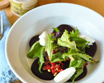 Beet Salad with Toasted Nuts and Spring Greens