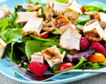Berried Spinach Salad with Chicken