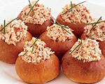 Bite-Sized Brioche Crabmeat Rolls